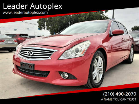 2013 Infiniti G37 Sedan for sale at Leader Autoplex in San Antonio TX