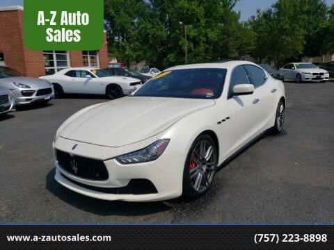 2014 Maserati Ghibli for sale at A-Z Auto Sales in Newport News VA