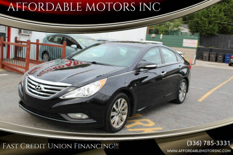 2014 Hyundai Sonata for sale at AFFORDABLE MOTORS INC in Winston Salem NC