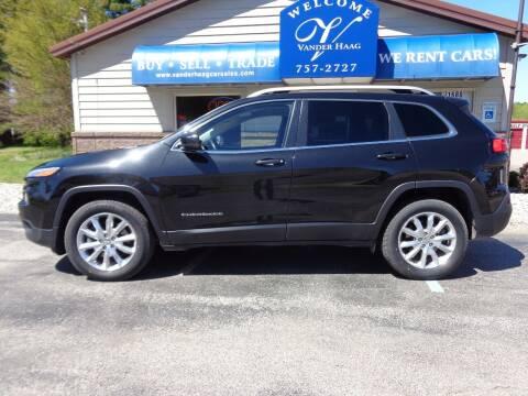 2016 Jeep Cherokee for sale at VanderHaag Car Sales LLC in Scottville MI
