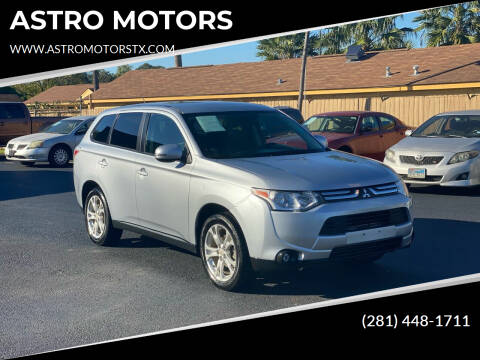 2014 Mitsubishi Outlander for sale at ASTRO MOTORS in Houston TX
