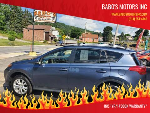 2013 Toyota RAV4 for sale at BABO'S MOTORS INC in Johnstown PA