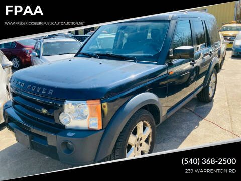 2005 Land Rover LR3 for sale at FPAA in Fredericksburg VA
