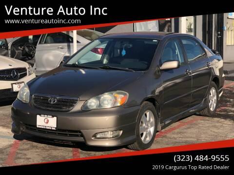 2005 Toyota Corolla for sale at Venture Auto Inc in South Gate CA