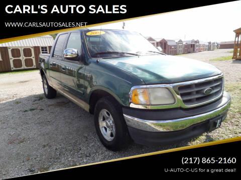 2001 Ford F-150 for sale at CARL'S AUTO SALES in Boody IL
