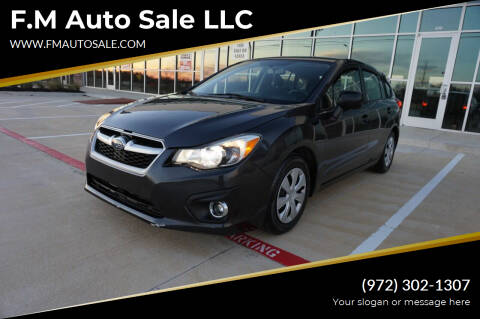 2012 Subaru Impreza for sale at F.M Auto Sale LLC in Dallas TX
