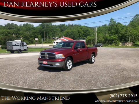 2012 RAM Ram Pickup 1500 for sale at DAN KEARNEY'S USED CARS in Center Rutland VT