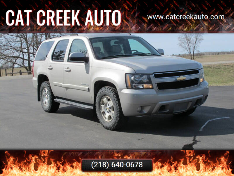 2007 Chevrolet Tahoe for sale at CAT CREEK AUTO in Menahga MN