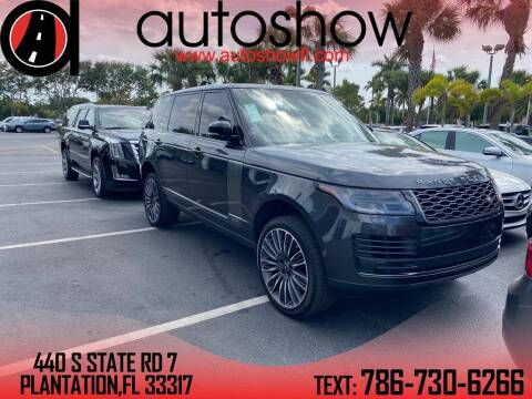 2019 Land Rover Range Rover for sale at AUTOSHOW SALES & SERVICE in Plantation FL