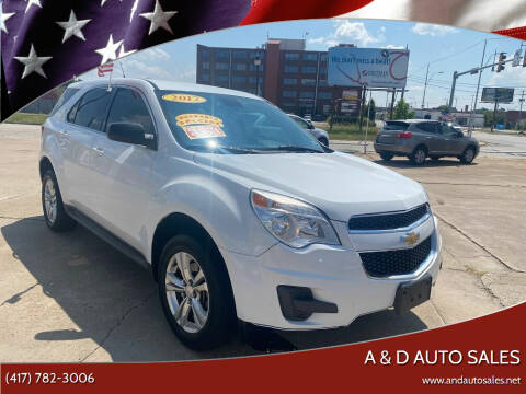 2012 Chevrolet Equinox for sale at A & D Auto Sales in Joplin MO