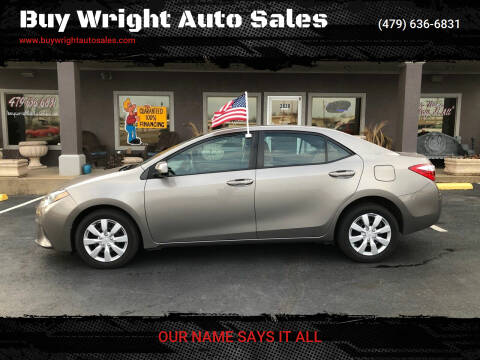 2014 Toyota Corolla for sale at Buy Wright Auto Sales in Rogers AR