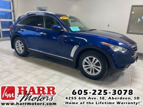 2013 Infiniti FX37 for sale at Harr's Redfield Ford in Redfield SD