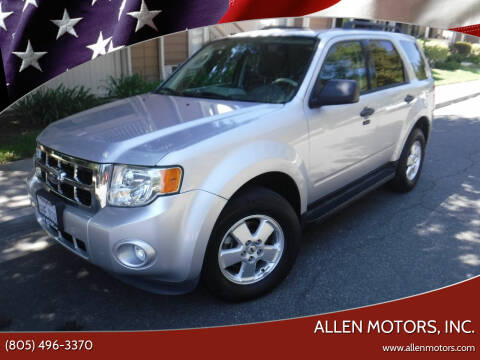 2012 Ford Escape for sale at Allen Motors, Inc. in Thousand Oaks CA