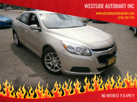 2015 Chevrolet Malibu for sale at WESTSIDE AUTOMART INC in Cleveland OH