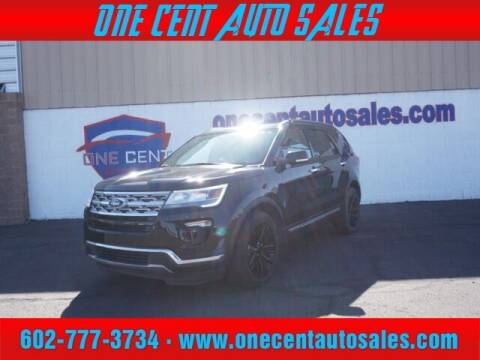 2018 Ford Explorer for sale at One Cent Auto Sales in Glendale AZ