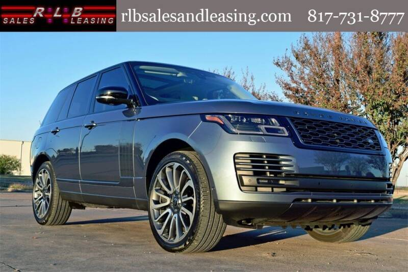 2020 Land Rover Range Rover for sale at RLB Sales and Leasing in Fort Worth TX