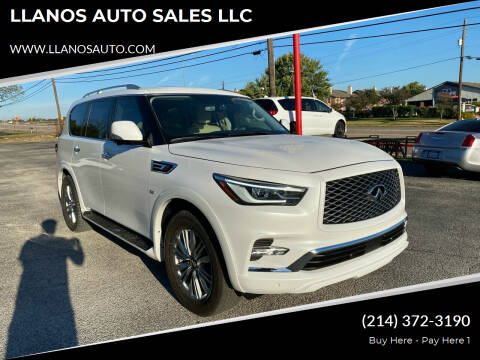 2018 Infiniti QX80 for sale at LLANOS AUTO SALES LLC - LEDBETTER in Dallas TX