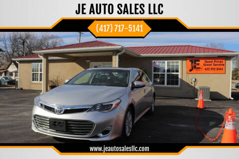 2013 Toyota Avalon for sale at JE AUTO SALES LLC in Webb City MO