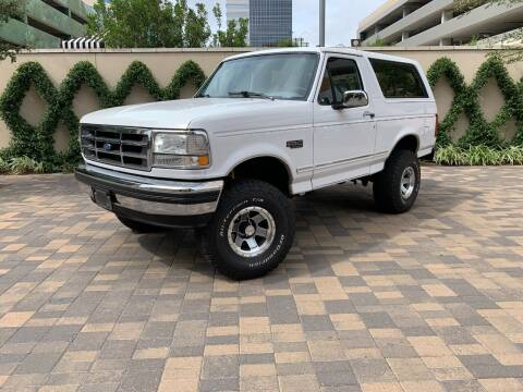 1994 Ford Bronco for sale at ROGERS MOTORCARS in Houston TX