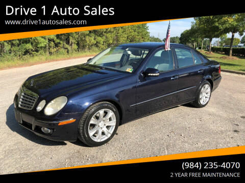2009 Mercedes-Benz E-Class for sale at Drive 1 Auto Sales in Wake Forest NC