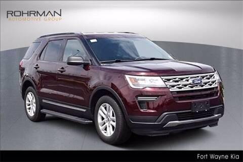 2018 Ford Explorer for sale at BOB ROHRMAN FORT WAYNE TOYOTA in Fort Wayne IN