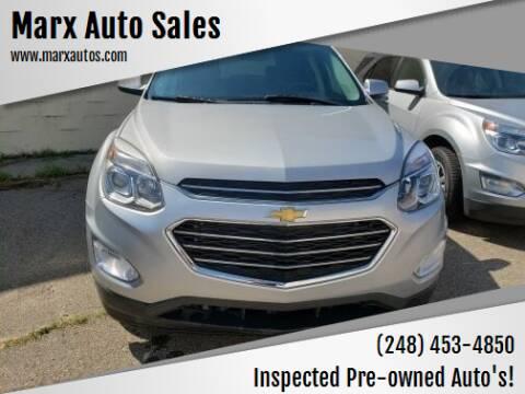 2016 Chevrolet Equinox for sale at Marx Auto Sales in Livonia MI