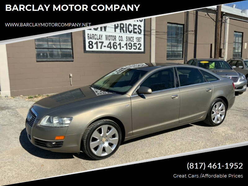 2006 Audi A6 for sale at BARCLAY MOTOR COMPANY in Arlington TX