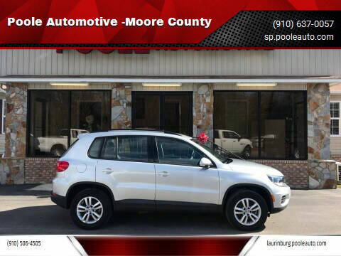 2017 Volkswagen Tiguan for sale at Poole Automotive -Moore County in Aberdeen NC