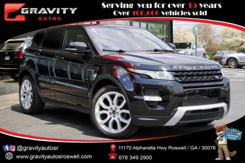 2013 Land Rover Range Rover Evoque for sale at Gravity Autos Roswell in Roswell GA