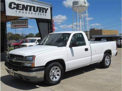2005 Chevrolet Silverado 1500 for sale at CENTURY TRUCKS & VANS in Grand Prairie TX