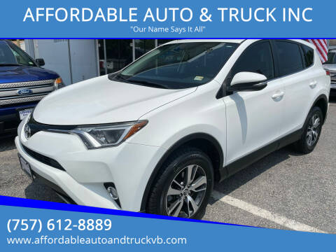 2016 Toyota RAV4 for sale at AFFORDABLE AUTO & TRUCK INC in Virginia Beach VA