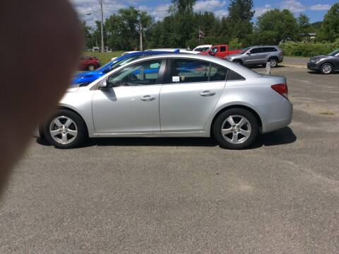 2013 Chevrolet Cruze for sale at Route 102 Auto Sales  and Service in Lee MA