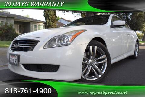 2009 Infiniti G37 Coupe for sale at Prestige Auto Sports Inc in North Hollywood CA