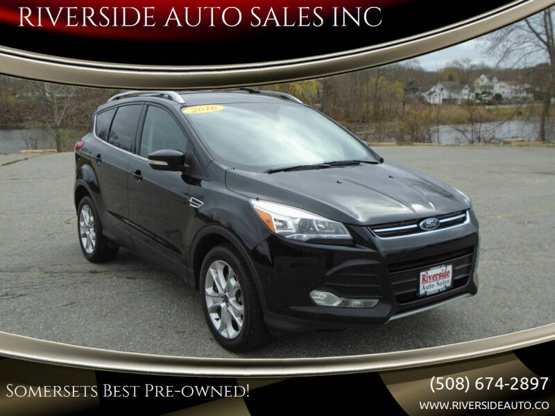 2016 Ford Escape for sale at RIVERSIDE AUTO SALES INC in Somerset MA