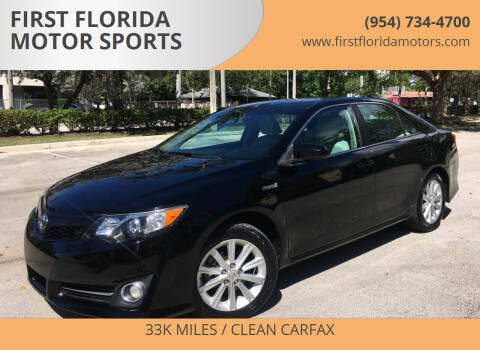 2013 Toyota Camry Hybrid for sale at FIRST FLORIDA MOTOR SPORTS in Pompano Beach FL