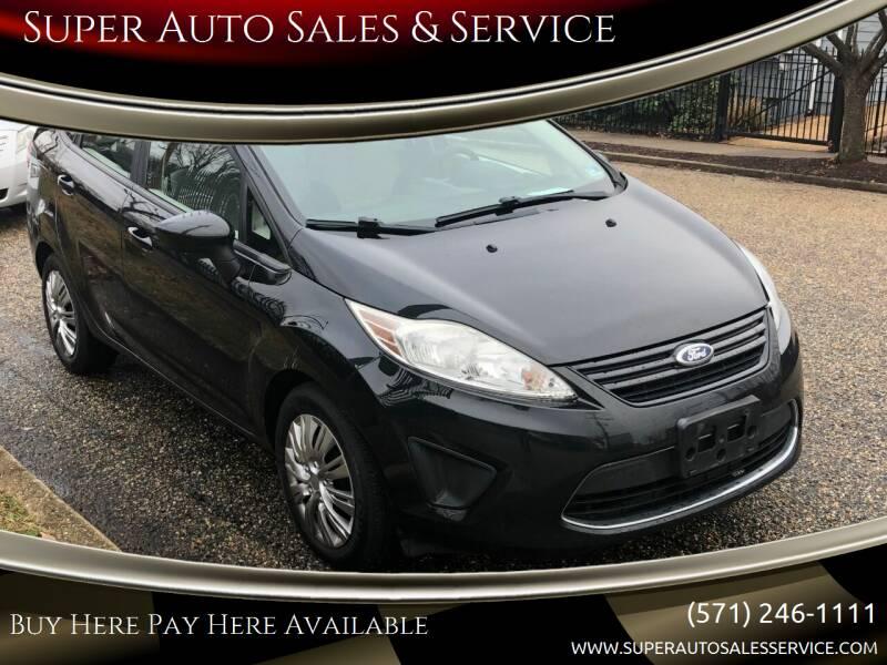2011 Ford Fiesta for sale at Super Auto Sales & Services in Fredericksburg VA