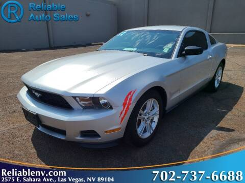 2012 Ford Mustang for sale at Reliable Auto Sales in Las Vegas NV