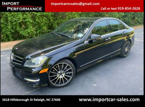 2013 Mercedes-Benz C-Class for sale at Import Performance Sales in Raleigh NC