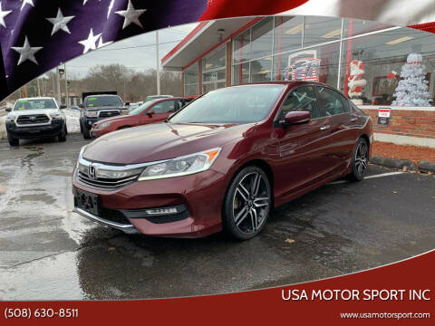 2017 Honda Accord for sale at USA Motor Sport inc in Marlborough MA