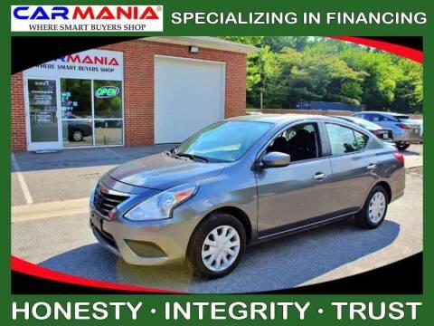 2018 Nissan Versa for sale at CARMANIA LLC in Chesapeake VA