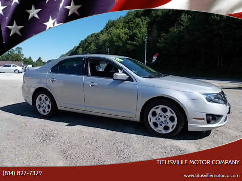 2010 Ford Fusion for sale at Titusville Motor Company in Titusville PA