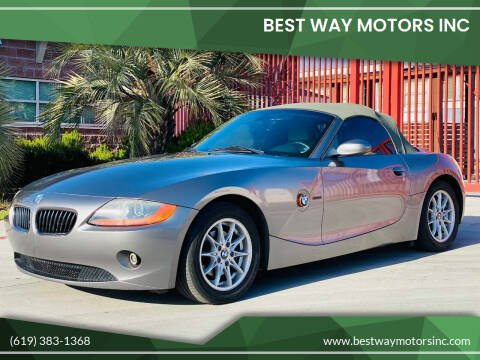 2004 BMW Z4 for sale at BEST WAY MOTORS INC in San Diego CA