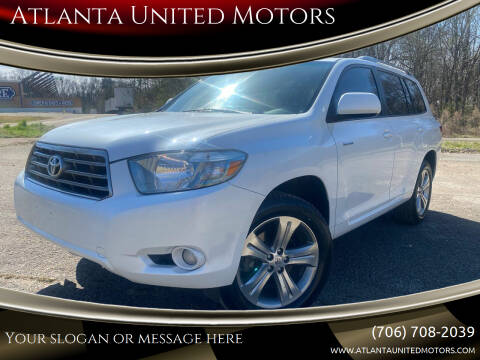 2009 Toyota Highlander for sale at Atlanta United Motors in Jefferson GA