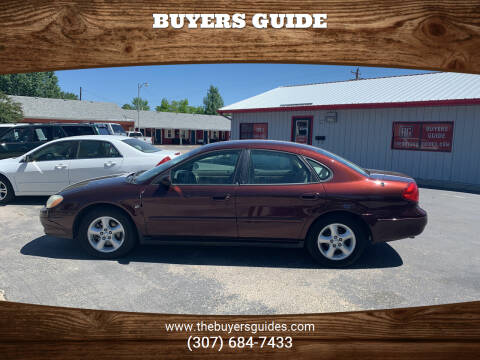 2001 Ford Taurus for sale at Buyers Guide in Buffalo WY