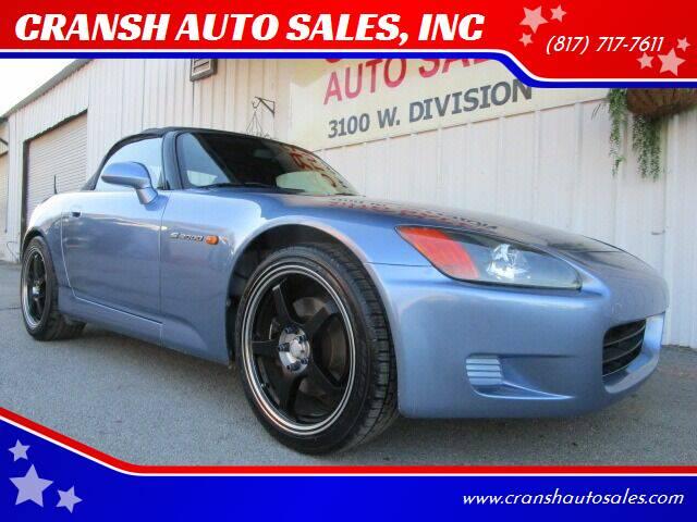 2002 Honda S2000 for sale at CRANSH AUTO SALES, INC in Arlington TX