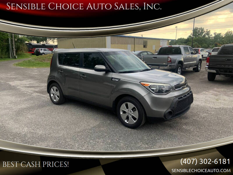 2015 Kia Soul for sale at Sensible Choice Auto Sales, Inc. in Longwood FL
