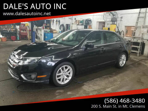 2010 Ford Fusion for sale at DALE'S AUTO INC in Mt Clemens MI
