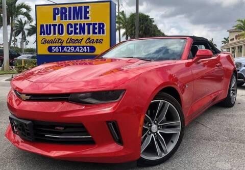 2018 Chevrolet Camaro for sale at PRIME AUTO CENTER in Palm Springs FL