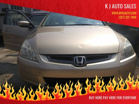 2005 Honda Accord for sale at K J AUTO SALES in Philadelphia PA
