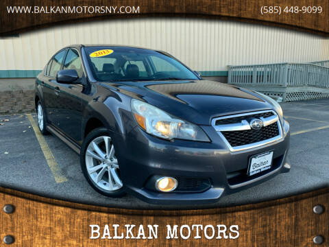 2013 Subaru Legacy for sale at BALKAN MOTORS in East Rochester NY
